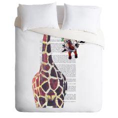 Coco de Paris Funny Giraffe Duvet Cover   DENY Designs Home Accessories