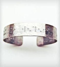 All That Glitters Braille Pendant Bracelet