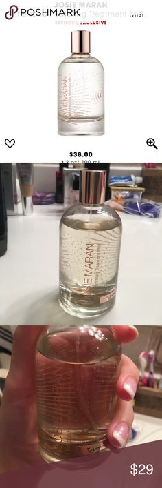 Josie Marian Nirvana Hydrating Treatment Mist Josie Maran Nirvana Hydrating Treatment Mist. 90% of product left. Only used a handful of times! Josie Maran Makeup