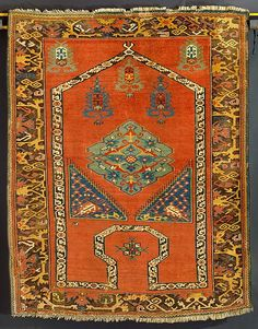 "Turkish, ""Bellini"" rug, 16th–17th century"