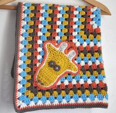 Baby Blanket Granny Square Giraffe by AllThingsGranny on Etsy, via Etsy.