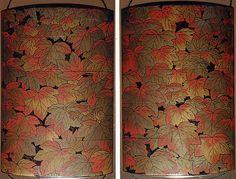 秋蔦蒔絵印籠 (Inrō with Autumn Ivy), early 19th century. Japan. The Metropolitan…