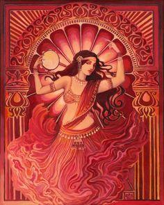 """Göttin Art Divine Tarantella """"Zigeuner"""" Bauchtanz Göttin 16 x 20 Poster drucken"""