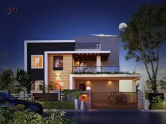 ICYMI: house elevation designs in kerala House Outside Design, House Front Design, Modern House Design, Door Design, Modern Architecture House, Architecture Design, Modern Bungalow Exterior, House Elevation, Building Elevation