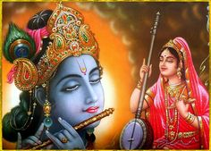 """✨ SHRI KRISHNA MEERABAI ॐ ✨  """"My dear Lord, kindly hear My true submission. My home is Vrindavana, and I wish Your association there. But if I do not get it, then it will be very difficult for Me to keep My life.""""~Chaitanya Caritamrta Madhya 13.138"""