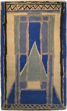 Design for rug from Omega Workshops (1913-1919). Probably by Duncan Grant or Vanessa Bell