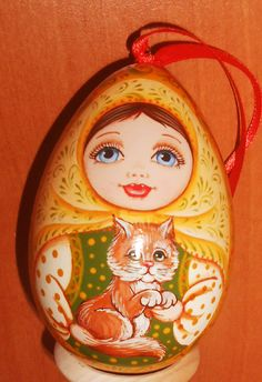 The wooden Egg with russian doll matryoshka  on от Artworkshop1, $12.00