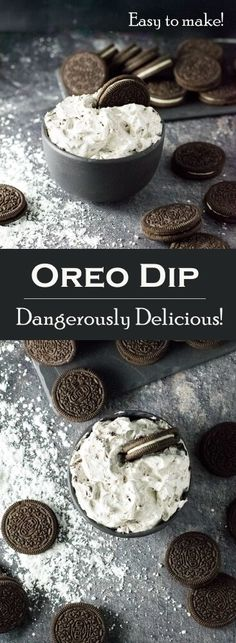 Oreo Dip Recipe - Party Appetizer via @foxvalleyfoodie