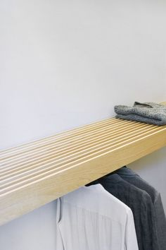 slatted closet shelf :: Ilke Penzlien