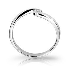 snowwhite engagement ring with a round brilliant diamond (fashion design: Danfil Diamonds) Brilliant Diamond, Her Smile, Diamonds, Wedding Rings, Engagement Rings, Bracelets, Silver, Fashion Design, Jewelry