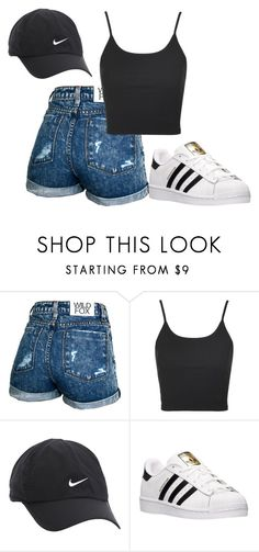 Untitled #426 by syragotswag on Polyvore featuring Topshop, Wildfox, adidas and NIKE