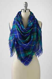 Women's Oversized Plaid Square Scarf