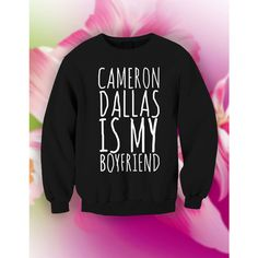 warm unisex soft cotton sweater : Cameron Dallas is my boyfriend ($20) ❤ liked on Polyvore featuring tops, sweaters, crew-neck sweaters, crewneck sweater, boyfriend tank top, crewneck shirt and cotton shirts