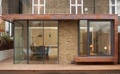 Architecture and Interior Design Studio London Extension Veranda, Brick Extension, Single Storey Extension, House Extension Design, Glass Extension, House Design, Wraparound Extension, Extension Ideas, Design Design