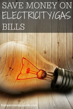Tips for saving money on electricity/gas bills. Check out my tips for how to save money on your household bills!  http://www.frompenniestopounds.com/?p=134