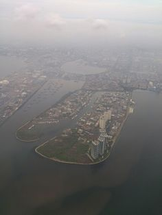 Pantai Mutiara Jakarta from the morning sky
