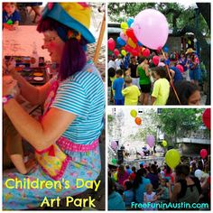 Children's Day At Park put on by Austin Symphony Orchestra.  Make plans to attend Children's Day Art Park on Wednesday mornings from June 11 - July 30, 2014 (excluding July 2), from 9:30 - 11:30 a.m.