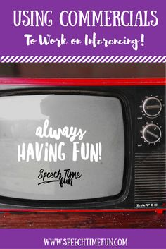 Using commercials in speech therapy is a fun and effective way to work on inferencing skills! Read this post about how I use commercials in my lessons.
