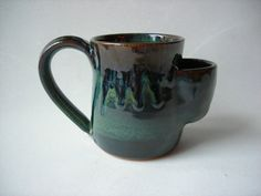 Tea Mug with Teabag Pouch by DragonPottery on Etsy, $28.00