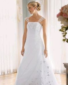 wedding dresses with cap sleeves