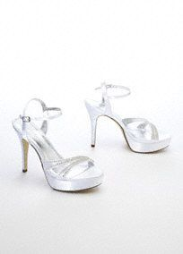 Wedding Shoes and Bridal Party Shoes at David's Bridal, $50
