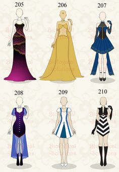 Adoptable: Clothing: 205-210 (OPEN) 2/6 by Biological-Solutions.deviantart.com on @DeviantArt