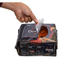 """Doritos launches and cross-promotes new """"Gamer Pack"""" to coincide with launch of new Xbox. Packaging designed for easy access while playing video games."""