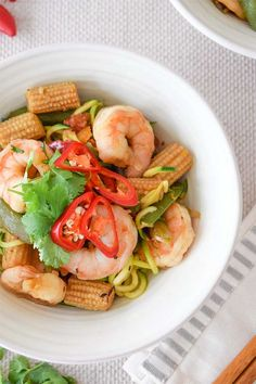 honey and chilli prawn zoodle recipe