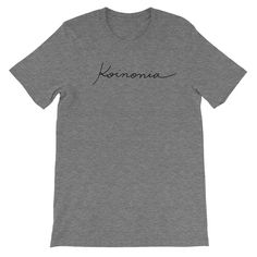 Koinonia Calligraphy Mens T-shirt