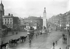 New Living Pictures. Sackville Street and O'Connell Street, Dublin: . Spring 1913 (National Library of Ireland) Old Pictures, Old Photos, Vintage Photos, Vintage Stuff, Paris Skyline, New York Skyline, The Pleasure Garden, Photo Engraving, James Joyce
