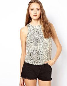 Glamorous Floral Printed Top