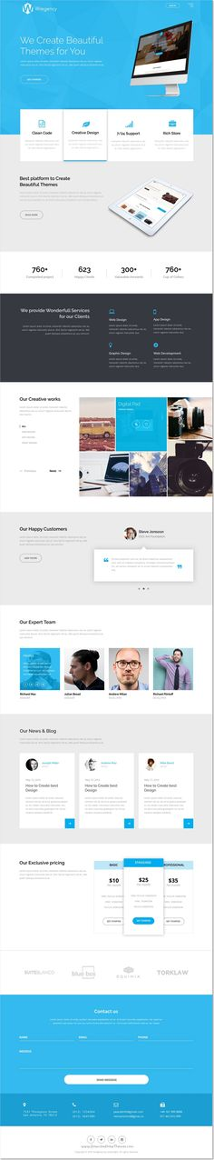 Wregency is a creative modern and clean #PSD #template for #onepage multipurpose  website download now➩ https://themeforest.net/item/wregency-multipurpose-one-page-psd-template/17222256?ref=Datasata