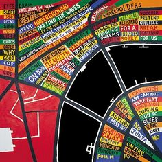 Stanley Donwood, London, 7 colour silkscreen x 58 cm, edition… Hail To The Thief, Radiohead Albums, Stanley Donwood, English Artists, Silk Screen Printing, Map Art, Album Covers, Book Covers, Contemporary Art