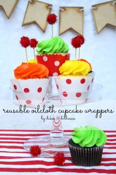 reusable oilcloth cupcake wrappers red and white polka dots Cupcake Party, Party Cakes, Chocolate Chip Recipes, Chocolate Chips, Mint Chocolate, Cupcake Wrappers, Cupcake Liners, Baking Party, Tiramisu Cake