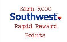 Bonus: Earn 3,000 Southwest Rapid Reward Points on Rocketmiles!