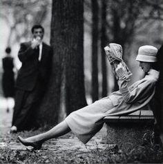 Yale Joel     Woman on Park Bench, New York City      1957