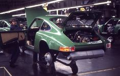Porsche Factory, Zuffenhausen The most famous pictures at the Porsche factory in 1970.