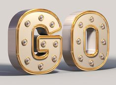 3D white and Gold Text Effect - 600.jpg (600×444)