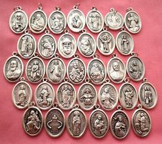 Vintage Silver religious medals and rings | Religious Medals ...