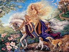 Josephine Wall Screensavers   ... Oil paintings   Celestial Journey - Fantasy World of Josephine Wall