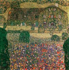 Gustav Klimt Country House by Attersee
