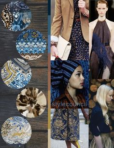 Style Council: Autumn Boho- Our new favorite color story is inspired by Alberta Ferretti's resort 2016 collection! We love how the dark blues and browns balance with the rusts, golds, and tans.