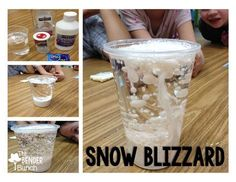 The Bender Bunch: Easy Snow Blizzard Science Experiment Source by