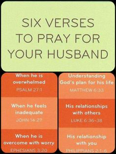 Six ways to pray for your husband