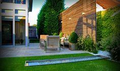 Small City Garden contemporary-landscape - timber screen