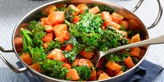 Butternut Squash and Kale Stir Fry Recipe : Ree Drummond : Food Network Vegetable Dishes, Vegetable Recipes, Vegetarian Recipes, Healthy Recipes, Kale Recipes, Top Recipes, Healthy Dinners, Healthy Foods, Healthy Eating