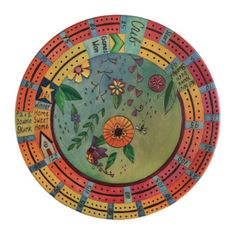 """20"""" Cribbage Lazy Susan- This cheery cribbage lazy susan is reminiscent of Spring and new beginnings"""