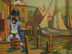 Superbe série par l'artiste David Irvine (via Bored Panda) #popculture #batman #comics