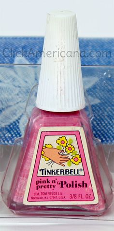 This brings back a ton of memories! I never got Tinkerbell stuff, but my childhood best friend Tina did. This was our first experience with nail polish. Vintage Tinkerbell beauty goodies for girls School Memories, My Childhood Memories, Childhood Toys, Best Memories, Ed Vedder, 80s Kids, I Remember When, My Memory, Old Toys