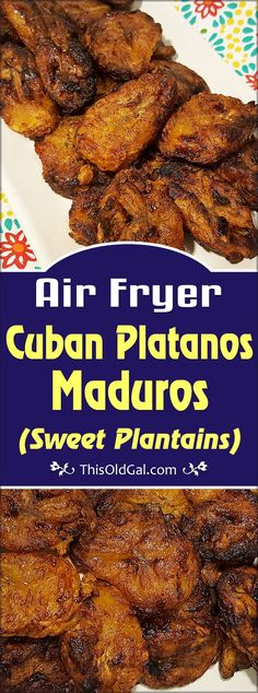 Air Fryer Cuban Sweet Plantains {Platanos Maduros}, are made with very ripe, Yellow Plantains and make a delicious side dish. via fryer recipe phillips Air Fryer Cuban Sweet Plantains {Platanos Maduros} Air Fryer Recipes Chips, Air Fryer Recipes Appetizers, Air Fryer Recipes Vegetarian, Air Fryer Recipes Low Carb, Air Fryer Recipes Breakfast, Cooking Recipes, Healthy Recipes, Cooking Tips, Oven Recipes